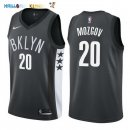 Maillot NBA Brooklyn Nets NO.20 Timofey Mozgov Noir Statement 2017-2018 Pas Cher