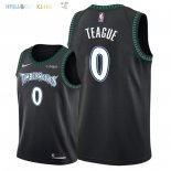 Maillot NBA Minnesota Timberwolves NO.0 Jeff Teague Retro Noir 2018 Pas Cher