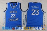 Maillot NCAA Enfants North Carolina NO.23 Michael Jordan Bleu Pas Cher