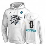 Hoodies NBA 2019 All Star Oklahoma City Thunder NO.0 Russell Westbrook Blanc Pas Cher