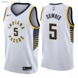 Maillot NBA Indiana Pacers NO.5 Edmond Sumner Blanc Association 2018 Pas Cher