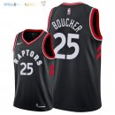 Maillot NBA Toronto Raptors NO.25 Chris Boucher Noir Statement 2018 Pas Cher