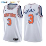 Maillot NBA New York Knicks NO.3 Tim Hardaway Jr Blanc Statement 2017-2018 Pas Cher