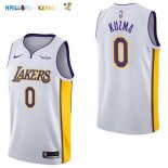 Maillot NBA Enfant Los Angeles Lakers NO.0 Kyle Kuzma Blanc Pas Cher
