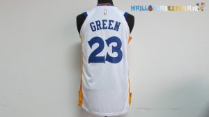 Maillot NBA Golden State Warriors Nike NO.23 Draymond Green Blanc Pas Cher