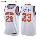Maillot NBA New York Knicks NO.23 Trey Burke Blanc Association 2017-2018 Pas Cher