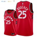 Maillot NBA Toronto Raptors NO.25 Chris Boucher Rouge Icon 2018 Pas Cher