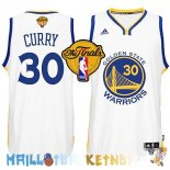 Maillot NBA Golden State Warriors Finales NO.30 Curry Blanc Pas Cher