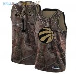 Maillot Toronto Raptors NO.1 Tracy Mcgrady Camo NBA Swingman Collection Realtree 2018 Pas Cher