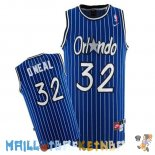Maillot NBA Orlando Magic NO.32 Shaquille O'Neal Bleu Pas Cher
