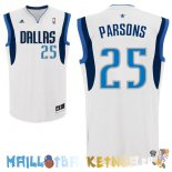 Maillot NBA Dallas Mavericks NO.25 Chandler Parsons Blanc Pas Cher
