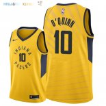 Maillot NBA Indiana Pacers NO.10 Kyle O'Quinn Jaune Statement 2018-2019 Pas Cher