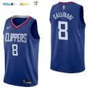 Maillot NBA Los Angeles Clippers NO.8 Danilo Gallinari Bleu Icon 2017-2018 Pas Cher