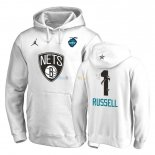 Hoodies NBA 2019 All Star Brooklyn Nets NO.1 D'Angelo Russell Blanc Pas Cher