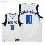 Maillot NBA Enfant Dallas Mavericks NO.10 Dorian Finney Smith Blanc Association 2018 Pas Cher