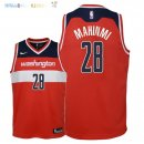 Maillot NBA Enfant Washington Wizards NO.28 Ian Mahinmi Rouge Icon 2018 Pas Cher