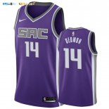 Maillot NBA Nike Sacramento Kings NO.14 Dewayne Dedmon Pourpre Icon 2019-20