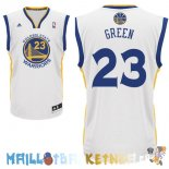 Maillot NBA Golden State Warriors NO.23 Draymond Green Blanc Pas Cher