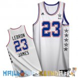 Maillot NBA 2015 All Star NO.23 LeBron James Blanc Pas Cher