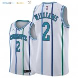 Maillot NBA Charlotte Hornets NO.2 Marvin Williams Retro Blanc 2018 Pas Cher