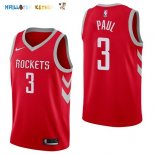 Maillot NBA Houston Rockets NO.3 Chris Paul Rouge Icon 2017-2018 Pas Cher