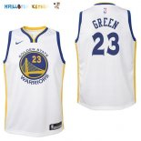 Maillot NBA Enfant Golden State Warriors NO.23 Draymond Green Blanc Association Pas Cher