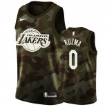 Maillot Los Angeles Lakers Nike NO.0 Kyle Kuzma Camouflage 2019 Pas Cher
