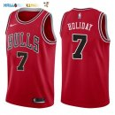 Maillot NBA Chicago Bulls NO.7 Justin Holiday Rouge Icon 2017-2018 Pas Cher
