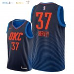 Maillot NBA Oklahoma City Thunder NO.37 Kevin Hervey Marine Statement 2018 Pas Cher