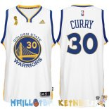 Maillot NBA Golden State Warriors 2015 Finales Champions NO.30 Curry Blanc Pas Cher