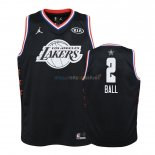 Maillot NBA Enfant 2019 All Star NO.2 Lonzo Ball Noir Pas Cher