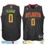 Maillot NBA Atlanta Hawks NO.0 Jeff Teague Noir Pas Cher