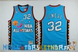 Maillot NBA 1996 All Star NO.32 Shaquille O'Neal Bleu Pas Cher