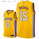Maillot NBA Los Angeles Lakers NO.15 Moritz Wagner Jaune Icon 2018 Pas Cher
