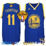 Maillot NBA Golden State Warriors Finales NO.11 Thompson Bleu Pas Cher