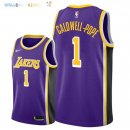 Maillot NBA Los Angeles Lakers NO.1 Kentavious Caldwell Pope Pourpre Statement 2018-2019 Pas Cher