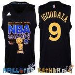 Maillot NBA Golden State Warriors Finales NO.9 Iguodala Noir Pas Cher