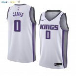 Maillot NBA Nike Sacramento Kings NO.0 Justin James Blanc Association 2019-20
