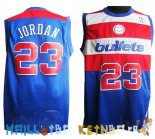 Maillot NBA Washington Wizards NO.23 Michael Jordan Retro Bleu Pas Cher