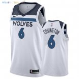 Maillot NBA Minnesota Timberwolves NO.6 Robert Covington Blanc Association 2018 Pas Cher