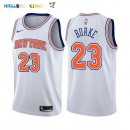 Maillot NBA New York Knicks NO.23 Trey Burke Blanc Statement 2017-2018 Pas Cher
