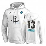 Hoodies NBA 2019 All Star Houston Rockets NO.13 James Harden Blanc Pas Cher