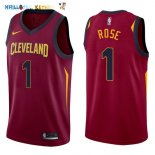 Maillot NBA Cleveland Cavaliers NO.1 Derrick Rose Rouge Icon 2017-2018 Pas Cher