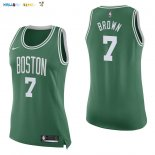 Maillot NBA Femme Boston Celtics NO.7 Jaylen Brown Vert Icon Pas Cher