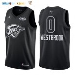 Maillot NBA 2018 All Star NO.0 Russell Westbrook Noir Pas Cher