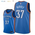Maillot NBA Oklahoma City Thunder NO.37 Kevin Hervey Bleu Icon 2018 Pas Cher