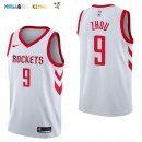Maillot NBA Houston Rockets NO.9 Zhou Qi Blanc Association 2017-2018 Pas Cher