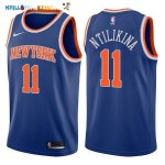 Maillot NBA New York Knicks NO.11 Frank Ntilikina Bleu Icon 2017-2018 Pas Cher