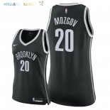 Maillot NBA Femme Brooklyn Nets NO.20 Timofey Mozgov Noir Icon 2018 Pas Cher