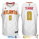 Maillot NBA Atlanta Hawks NO.0 Jeff Teague Blanc Pas Cher
